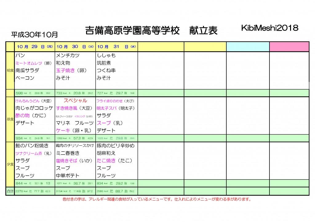 KibiMeshi20181029-1031