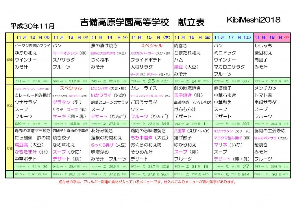 KibiMeshi20181112-1118