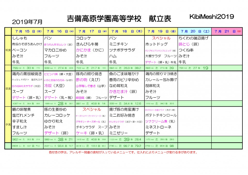 KibiMeshi20190715-0720