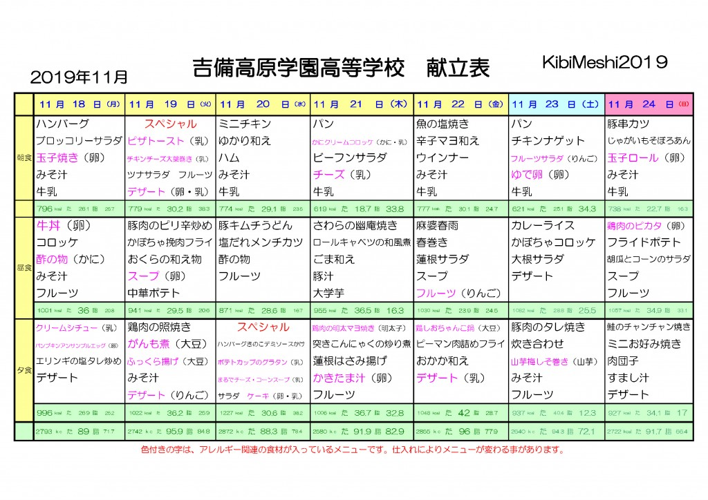KibiMeshi20191118-1124