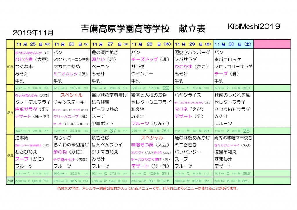 KibiMeshi20191125-1130