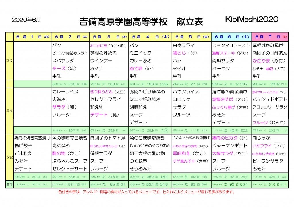 KibiMeshi20200601-0607