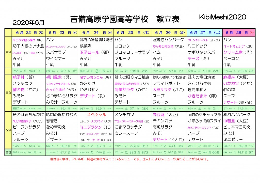 KibiMeshi20200622-0628