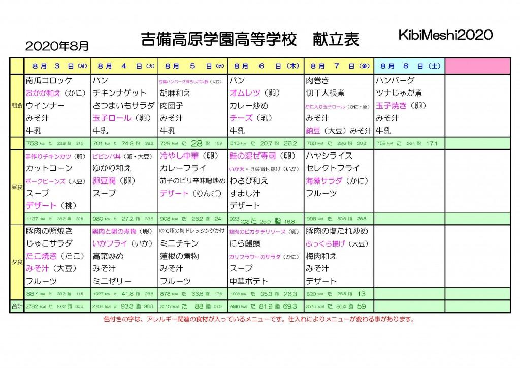KibiMeshi20200803-0808