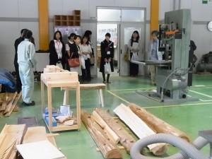 クラフトデザインコース実習室(木材加工)