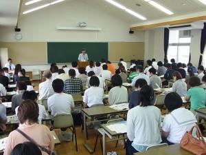 全体会では教頭より学校の概要を説明。