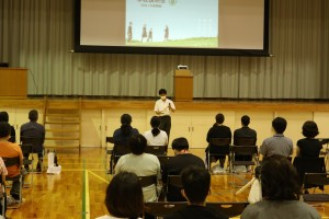 代表生徒によるご挨拶、体験談など。