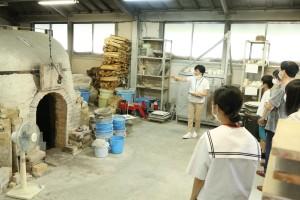 陶芸デザインコースの焼成登り窯。